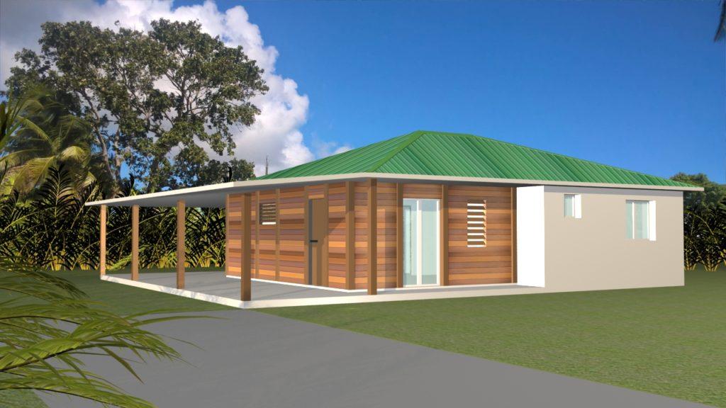 Maison bois béton 75 m²